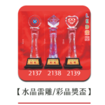 2137-2139水晶雷雕彩晶獎盃